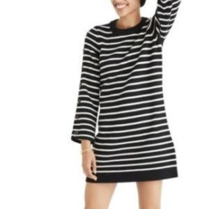 Madewell Stripe Merino Wool Sweater Dress XL